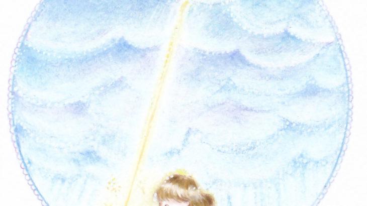 『雲間からさす太陽の光』